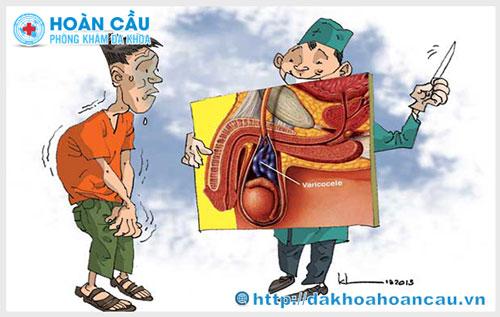 Nguyên nhân và triệu chứng gây giãn tĩnh mạch thừng tinh